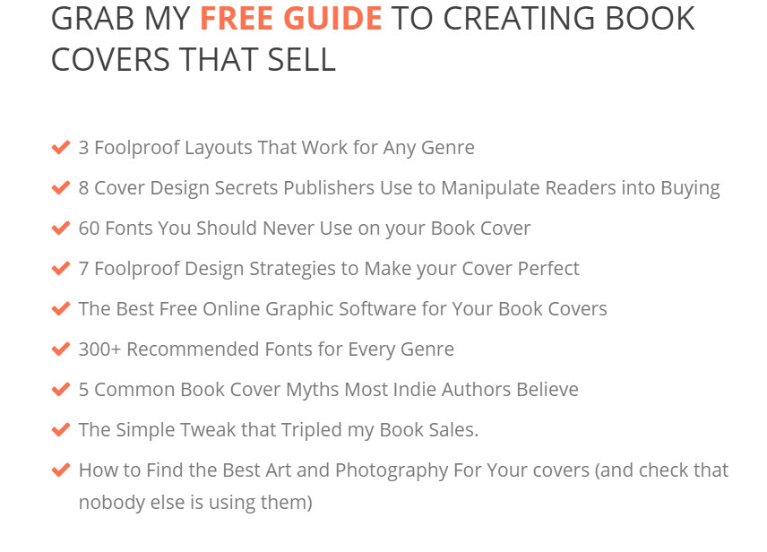 checklist DIY Book Covers - Free book design templates for self-publishing authors